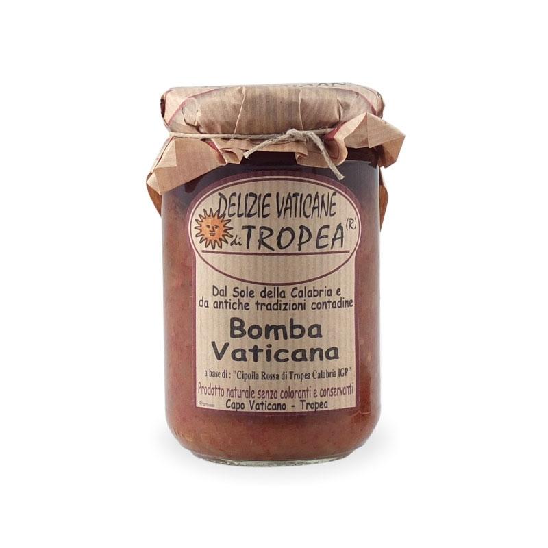 Bomba vaticana a base di Cipolla Rossa, 180 gr -Delizie Vaticane di Tropea