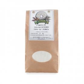 Farine de blé tendre type 0 bio pour une longue hausse, 1 kg - Mulino Sobrino