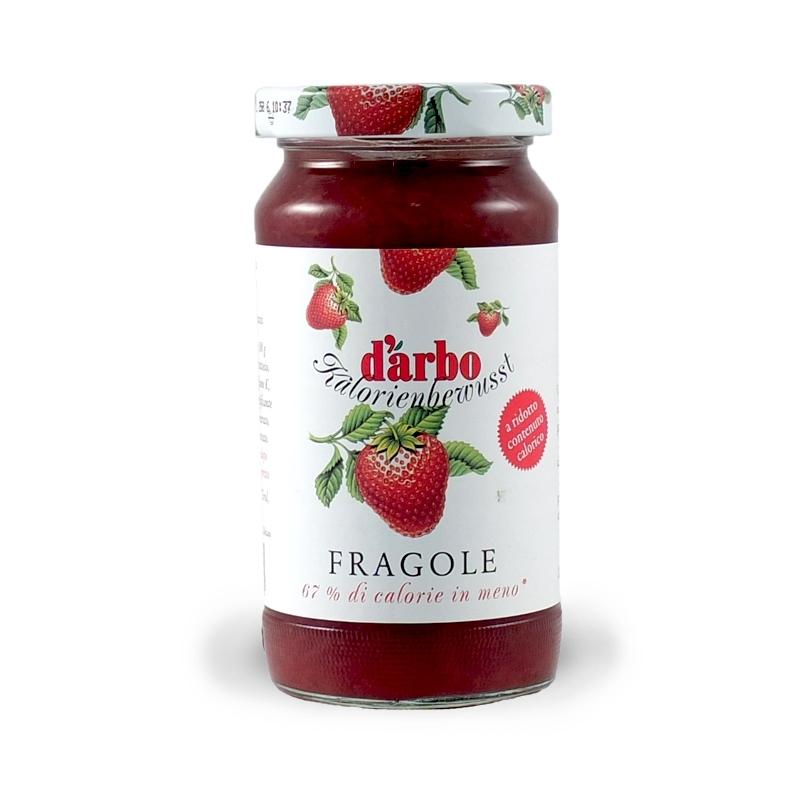 Confettura di fragole a ridotto contenuto calorico, 220 gr. - D'Arbo