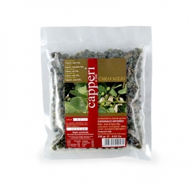 Saline capers with salt, 250 gr - Caravaglio