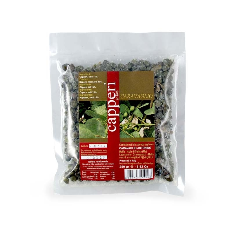 Salina capers, 1 kg bag - Size 7