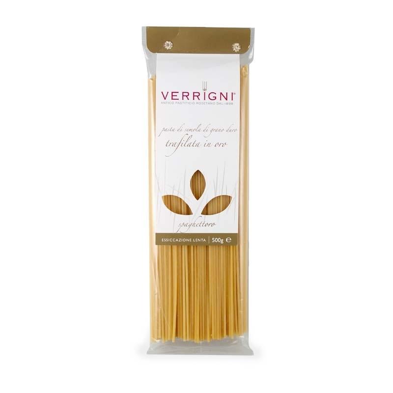 Spaghetti trafilati in oro, 500 gr - Pastificio Verrigni