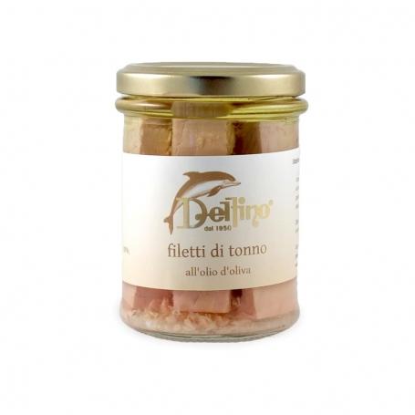 Filets von Thunfisch in Olivenöl, 300 gr - Delfino Battista
