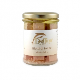 Tuna fillets with olive oil, 190 gr - Delfino Battista