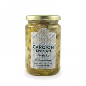 Artichauts de Sulcis dans l'huile d'olive épicée, 280 gr - Bon'Ora