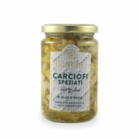 Carciofi del Sulcis speziati in olio di oliva, 280 gr - Bon'Ora