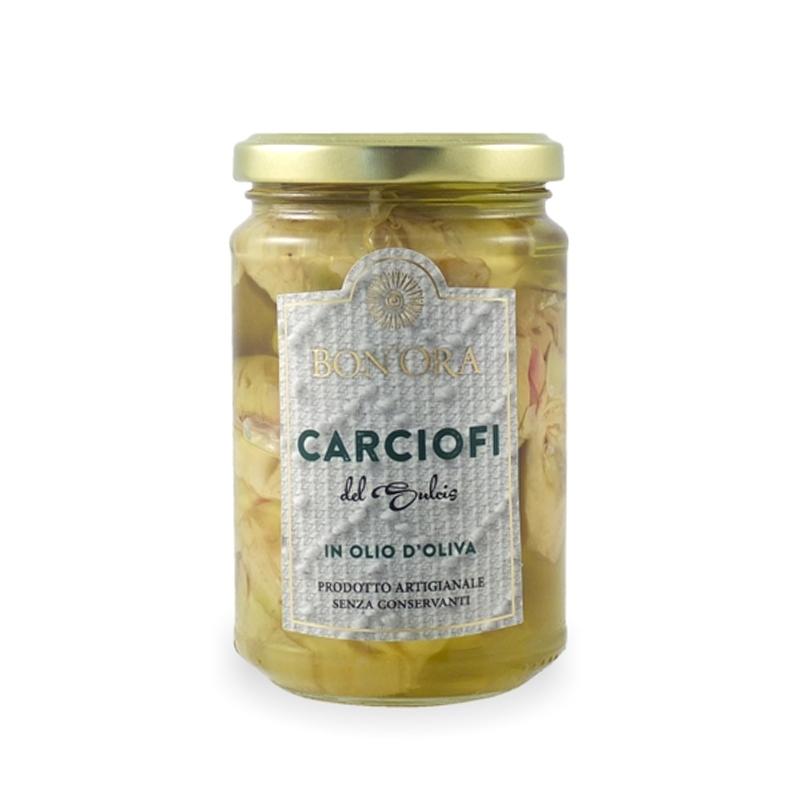 Cardi selvatici di Sardegna in olio di oliva, 280 gr - Bon'Ora