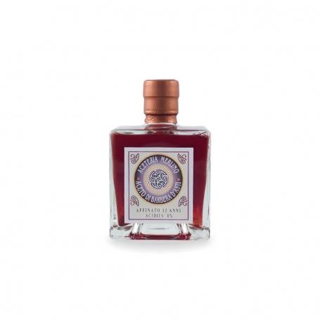 Aceto di Barbera Superiore d'Asti affinato 12 anni, confezione regalo, l. 0.25 - Aceteria Merlino - Aceto di vino