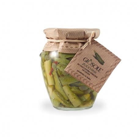 Zucchine in olio extravergine di oliva, 280 gr - Masseria Giòsole