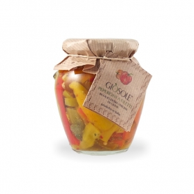 Peppers in extra virgin olive oil, 280 gr - Masseria GiòSole