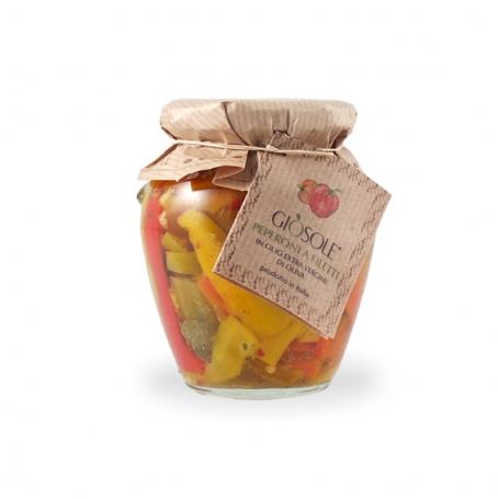 Peperoni in olio extravergine di oliva, 280 gr - Masseria Giòsole - Peperoni e peperoncini