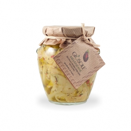 Eggplant in olive oil, 280 gr - Masseria GiòSole