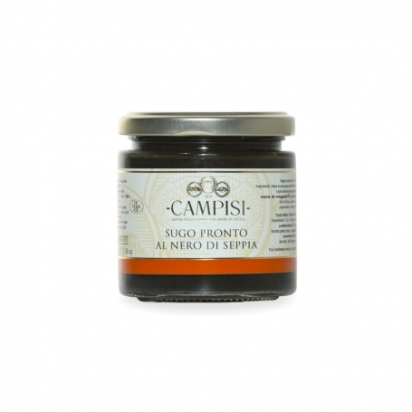 Tomato sauce with squid ink, 200 gr - Azienda Campisi