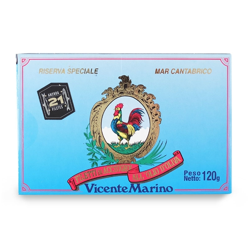 Acciughe del mar Cantabrico, 120 gr - Vicente Marino