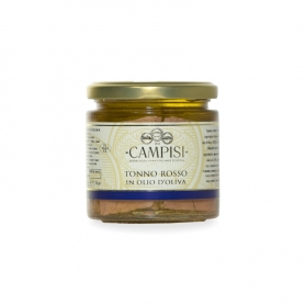 thon rouge dans l'huile d'olive, 220 gr - Campisi
