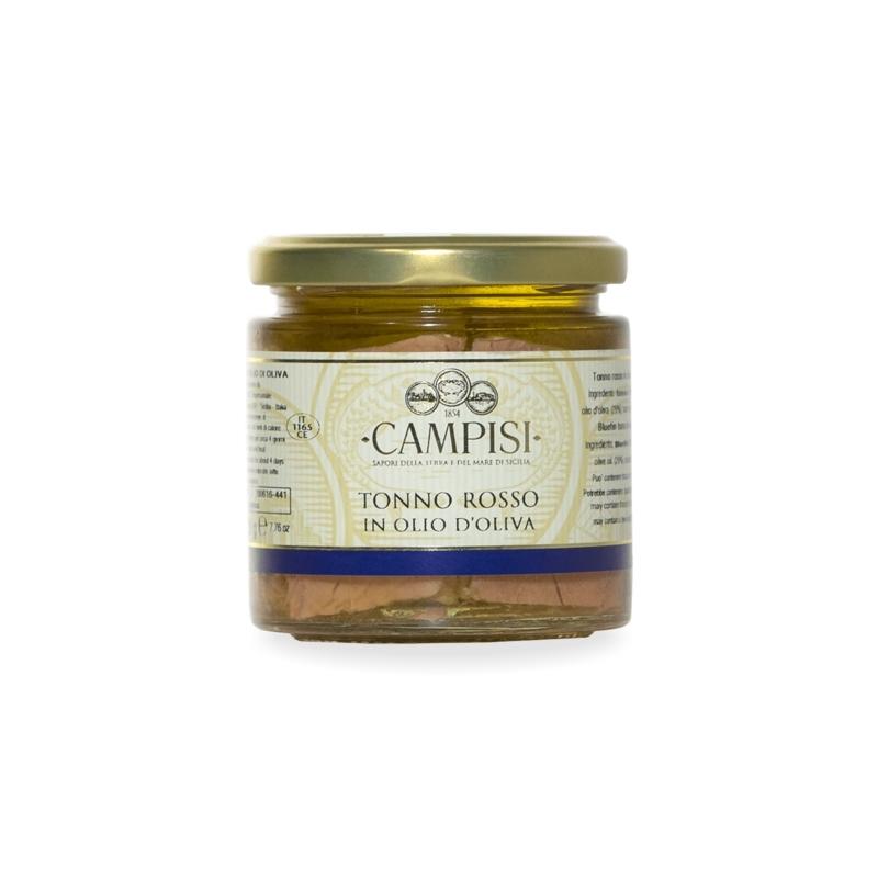 Tonno rosso in olio di oliva, 220 gr - Campisi