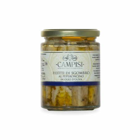 Mackerel fillets in chili - Campisi