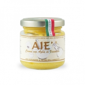 Cream with Garlic of Vessalico, 80 gr - A Resta Cooperative Agricultural Society