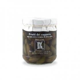 Fruits de câpres à l'huile d'olive, 175 gr - Kazzen