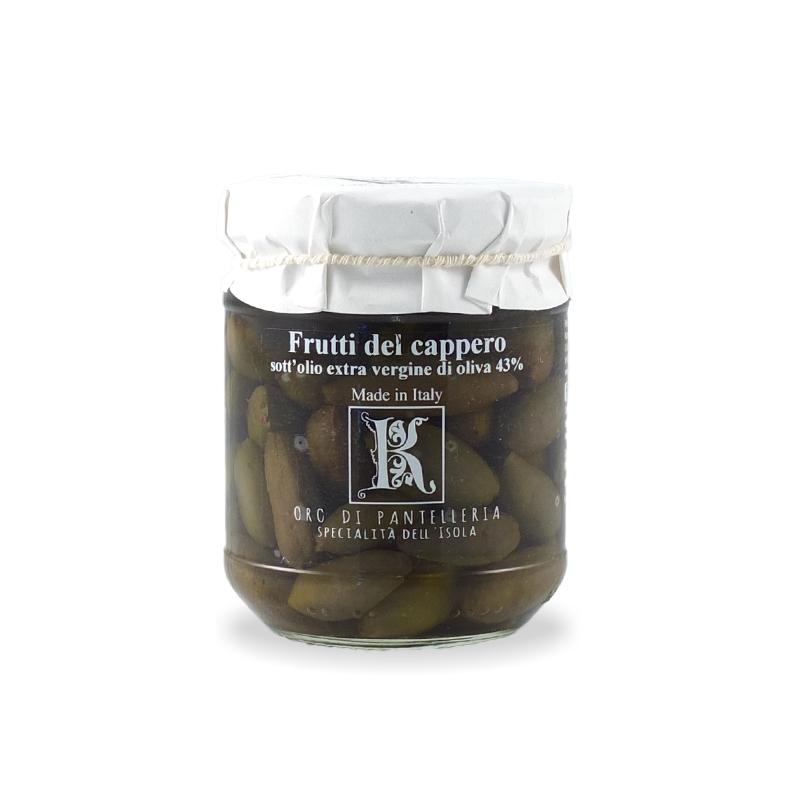Frutti del cappero in olio di oliva, 175 gr - Kazzen