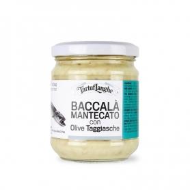 Baccalà mantecato con olive taggiasche, 190 gr - Tartuflanghe