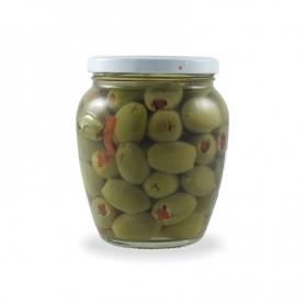 Olive farcite al peperone, 550 gr. - Urselli