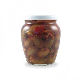 Olive schiacciate piccanti, 550 gr. - Urselli