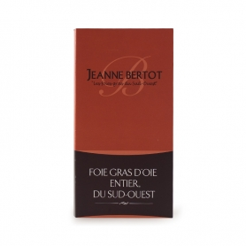 Foie gras d'oie entier I CUIT nature, 90 gr - Jeanne Bertot