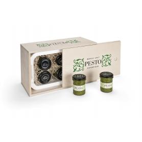 Box of Fresh Pesto Genovese Geschenk - 85 gr. X 6 Gläsern