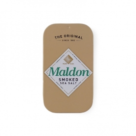 Smoked Maldon salt in an elegant tin, 9.5 gr