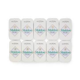 Sale di Maldon in elegante lattina da 9.5 gr, 10 confezioni