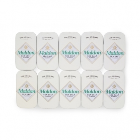 Maldon salt in an elegant 9.5g can, 10 packs