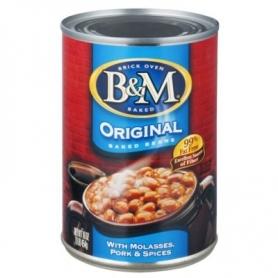 B & M fèves au lard - haricots ragoûts originaux, 454 gr
