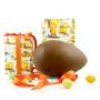 Uovo  di Pasqua artigianale Rossi in scatola regalo, cioccolato al latte, 500 gr