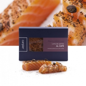 Heart of smoked salmon fillet flavored with coffee, 400 gr - Carpier