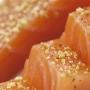 Cuore di Filetto di salmone affumicato aromatizzato con Gin Tonic, 150 gr - Carpier