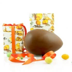Handwerk Osterei Eigelb in Geschenk-Box, Schokolade Milch, 1 kg
