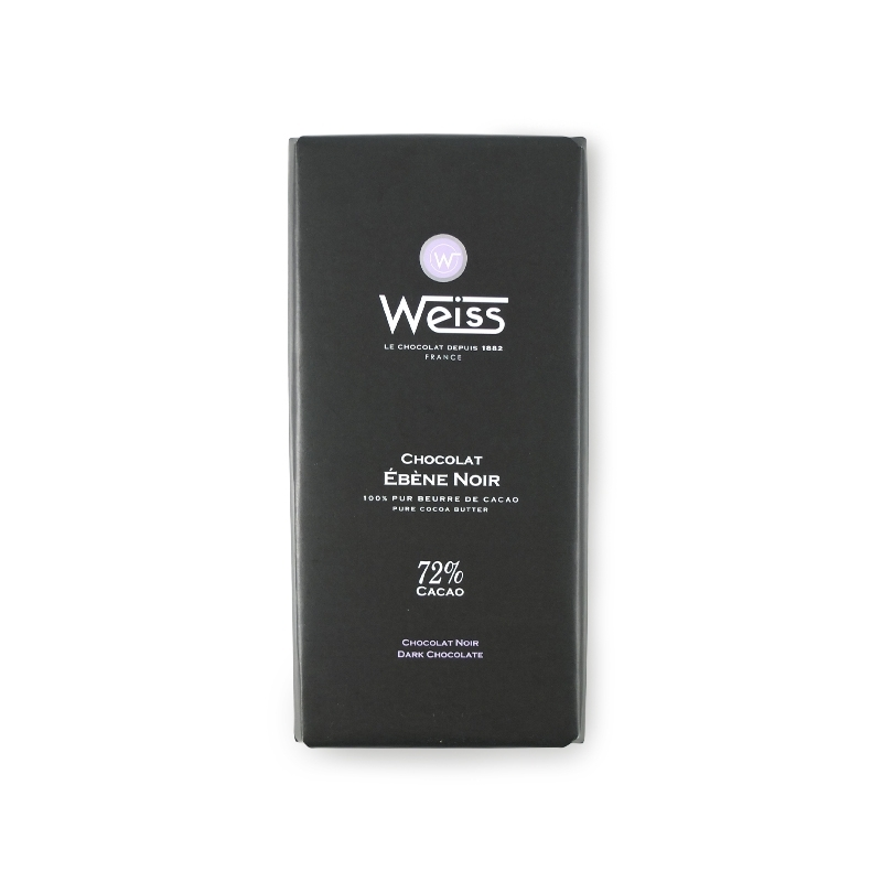 Ebene Black, 72% cocoa, 100 gr - Chocolaterie Weiss