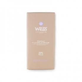Chocolat blanc avec des îles Vanille, 100 gr. - Chocolaterie Weiss