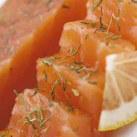 Heart of smoked salmon fillet flavored with dill and truffle, 150 gr - Carpier