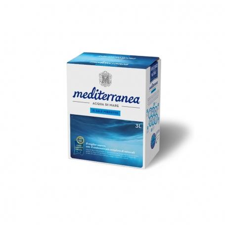 Acqua di Mare alimentare, 3 L - Mediterranea