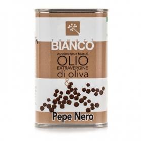 Vinaigrette à l'huile d'olive extra vierge et le poivre noir, 250 ml - Tenuta Blanc