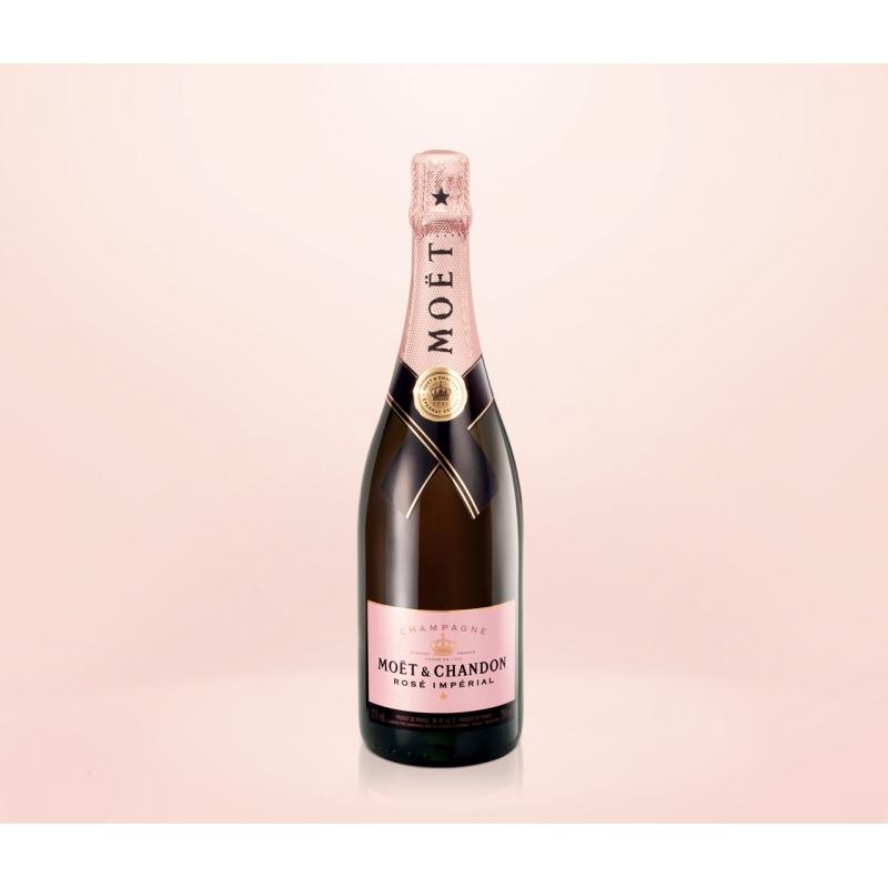 Moët & Chandon - Champagne Rosé Impérial, l. 0,75 1 sachet de bouteille.