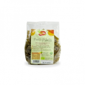 Fusilli with organic peas, 500 gr - ViviBio
