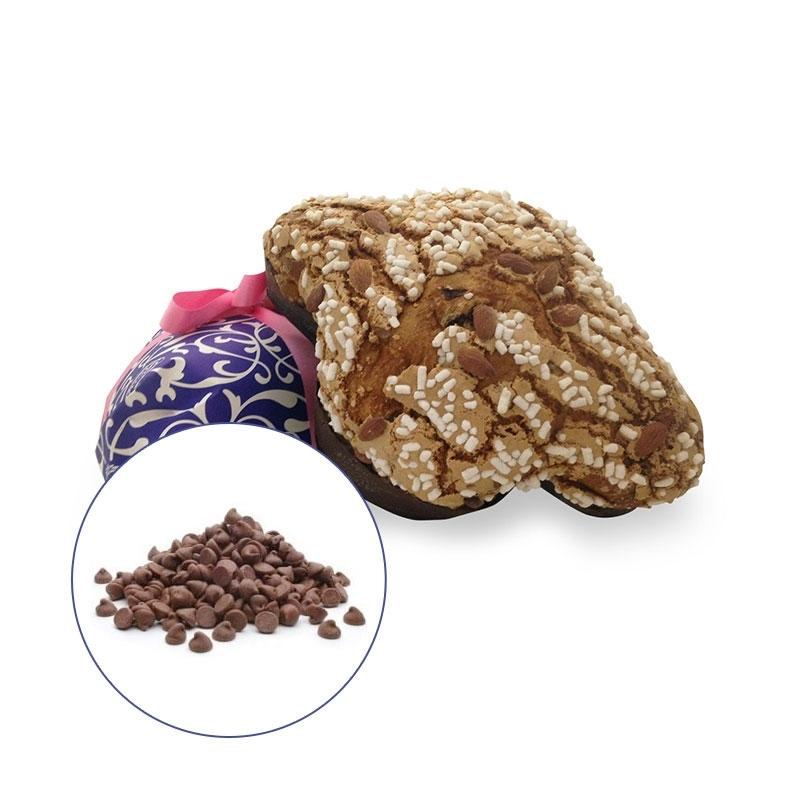 Colomba artigianale con pezzi di cioccolata senza canditi Rossi, 1 kg