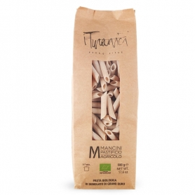 Smoked penne of Turanico BIO wheat, 500 gr - Pastificio Mancini