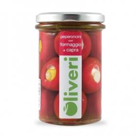 Hot Paprika mit Ziegenkäse, 290 gr - Oliveri