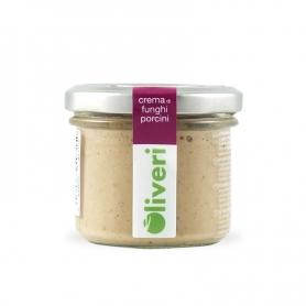 Crema di funghi porcini, 100 gr - Oliveri - Patè