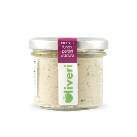 Crema di funghi porcini al tartufo, 100 gr - Oliveri