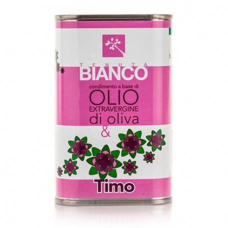 Condimento all'olio extravergine di oliva e Timo, 250 ml - Tenuta Bianco